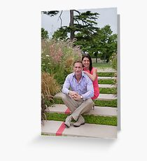 Dr Christian Jessen and Dr Dawn Harper at the RHS Hampton Court Palace flower show 2012. Presenters from the Embarrassing bodies tv programme. Greeting Card