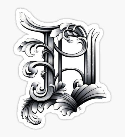 Baroque Rococo Detroit D Sticker
