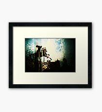 people on glass horses... Framed Print