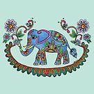 Folk Art Elephant by Kayleigh Walmsley