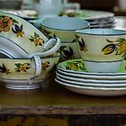 Cups and Saucers  by sandiemay