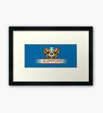 Support Badge Framed Print