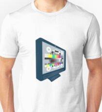 LCD Plasma TV Television Test Pattern T-Shirt