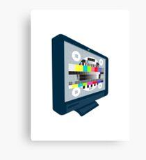 LCD Plasma TV Television Test Pattern Canvas Print