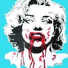 Marilyn Monroe Zombie by Yaz Alcantara