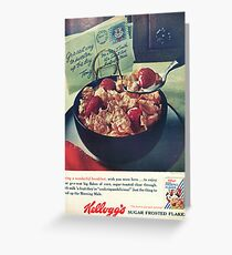 Vintage Kelloggs advertising in old magazine Greeting Card