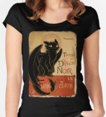 Le Dragon Noir Women's Fitted Scoop T-Shirt