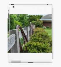 Rural fence  iPad Case/Skin