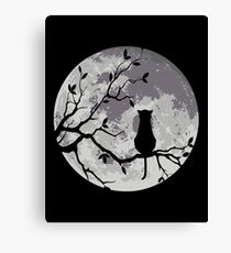 The Cat And The Moon Canvas Print