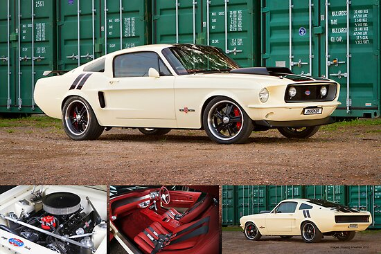 Ziggy's Hot Rods Ford Mustang - Poster by HoskingInd