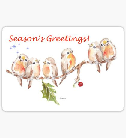 6 Little Birds - Season's Greetings! Sticker