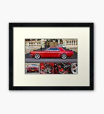 Keith Keily's 1966 Ford Mustang Coupe - Poster Framed Print