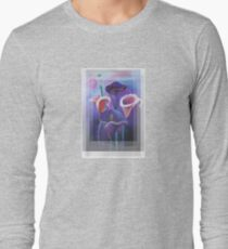 Birthday Wishes Greeting Card with Lilac Calla Lilies Long Sleeve T-Shirt