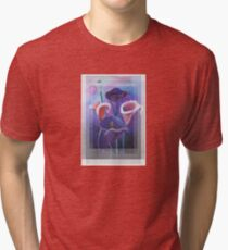 Birthday Wishes Greeting Card with Lilac Calla Lilies Tri-blend T-Shirt