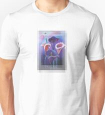 Birthday Wishes Greeting Card with Lilac Calla Lilies Unisex T-Shirt