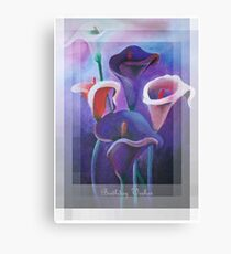 Birthday Wishes Greeting Card with Lilac Calla Lilies Canvas Print