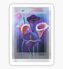 Birthday Wishes Greeting Card with Lilac Calla Lilies Sticker