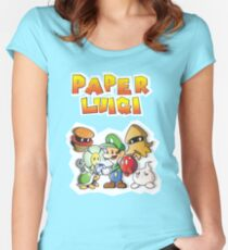 Paper Luigi Colored Women's Fitted Scoop T-Shirt