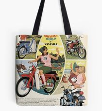 Yamaha ad in old magazine Tote Bag