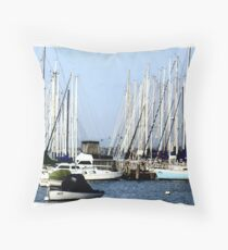 In a Safe Haven - Williamstown,Vic Throw Pillow