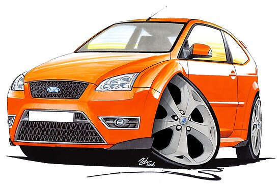 Ford Focus ST Orange by yeomanscarart