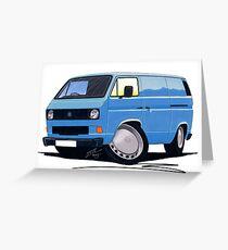 VW T25 Transporter Van Blue Greeting Card