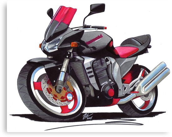 Kawasaki Z1000 by yeomanscarart