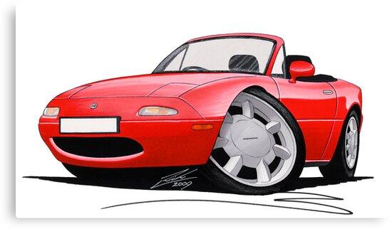 Mazda MX5 / Miata (Mk1) Red by yeomanscarart