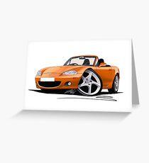 Mazda MX5 (Mk2) Gold Greeting Card