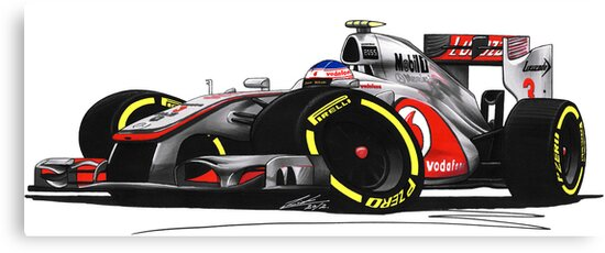 F1 2012 - McLaren MP4-27 - Jenson Button by yeomanscarart