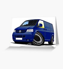 VW T5 Transporter Van Indian Blue Greeting Card