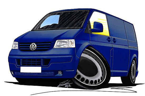 VW T5 Transporter Van Indian Blue by yeomanscarart