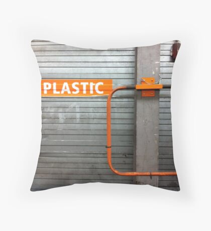 plastic. Throw Pillow