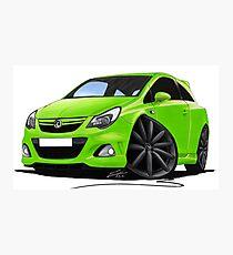 Vauxhall Corsa VXR Nurburgring Lime Green Photographic Print