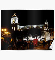 Old Cathedral At Night, Cuenca, Ecuador Poster