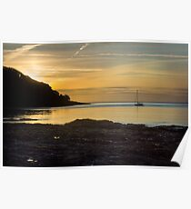 Sunrise Pendennis Point Falmouth Poster
