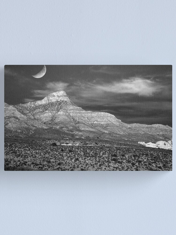 Alternate view of Red Rock Canyon in B&W Canvas Print