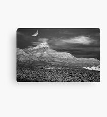 Red Rock Canyon in B&W Canvas Print