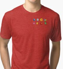 Pokemon Badges (Kanto Only) Tri-blend T-Shirt