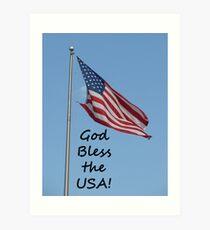 """God Bless the USA!""  by Carter L. Shepard Art Print"