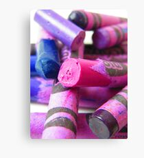 Crayola Crayon Columns Lay in Ruins Canvas Print