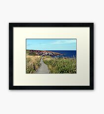 74 - CULLERNOSE POINT, NORTHUMBERLAND (D.E. 2012) Framed Print