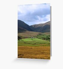 beautiful lush farm in ireland Greeting Card