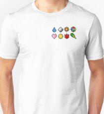 Pokemon Badge Sprites (Kanto Only) Unisex T-Shirt