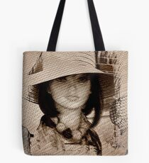 Lady in the Mesh Tote Bag