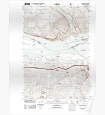 USGS Topo Map Washington State WA Camas 20110727 TM Poster