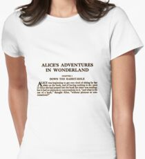 Alice In Wonderland Women's Fitted T-Shirt