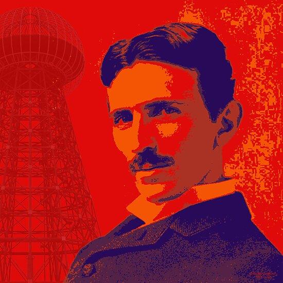 Nikola Tesla by popartworks by minjean