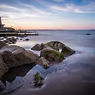 Sunset at Seapoint, Dún Laoghaire, Ireland by Alessio Michelini