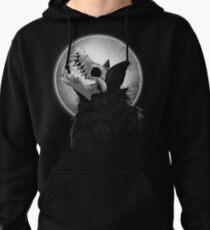 Skull Wolf Howl Pullover Hoodie